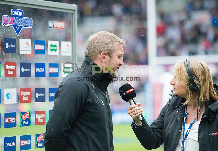 Picture by Allan McKenzie/SWpix.com - 20/05/2017 - Rugby League - Dacia Magic Weekend - Widnes v Wakefield - St James' Park, Newcastle, England - Denis Betts is interviewed post match.