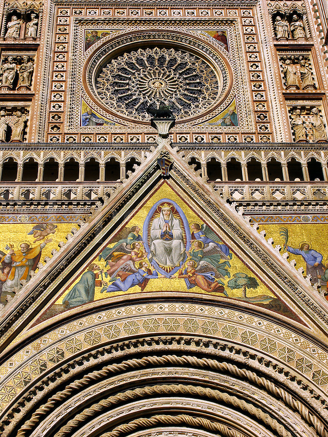 Duomo of Orvieto, Italy, Romanesque-Gothic cathedra