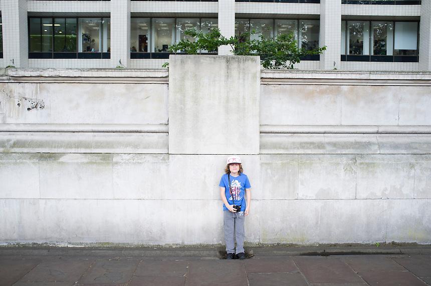Felix my son. South Bank, London, Great Britain, UK