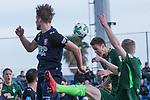 07.01.2018, San Pedro del Pinatar, Pinatar Arena, ESP, FSP FC Twente Enschede (NED) vs Werder Bremen (GER), im Bild<br /> <br /> Hidde ter Avest (FC Twente Enschede)<br /> Niklas Moisander (Werder Bremen #18)<br /> Florian Kainz (Werder Bremen #7)<br /> Foto &copy; nordphoto / Kokenge