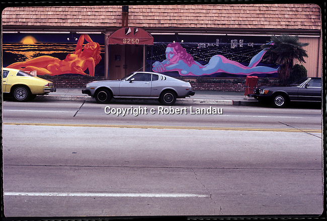 The Body Shop strip club on the Sunset Strip in Los Angeles, CA, circa 1979