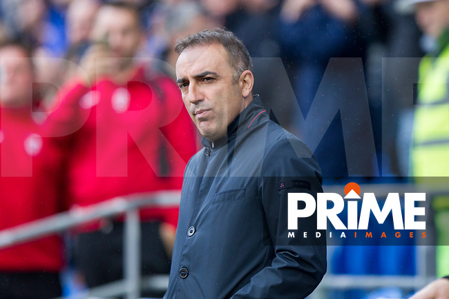 Sheffield Wednesday manager Carlos Carvalhal ahead of the Sky Bet Championship match between Cardiff City and Sheffield Wednesday at Cardiff City Stadium, Cardiff, Wales on 16 September 2017. Photo by Mark  Hawkins / PRiME Media Images.