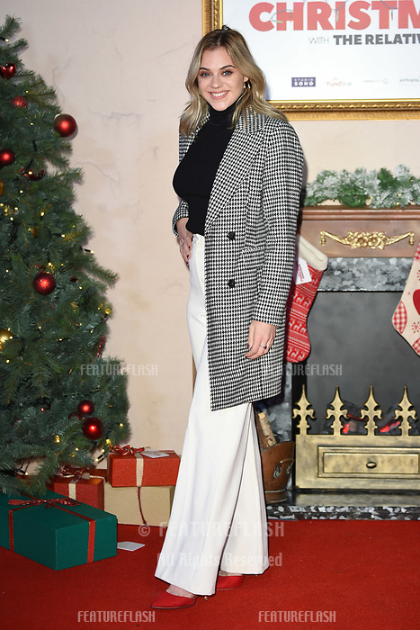 LONDON, UK. November 21, 2018: Laura Crane at the &quot;Surviving Christmas with the Relatives&quot; premiere at the Vue Leicester Square, London.<br /> Picture: Steve Vas/Featureflash