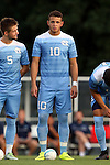 28 August 2016: North Carolina's Zach Wright. The University of North Carolina Tar Heels hosted the Saint Louis University Billikens at Fetter Field in Chapel Hill, North Carolina in a 2016 NCAA Division I Men's Soccer match. UNC won the game 3-0.