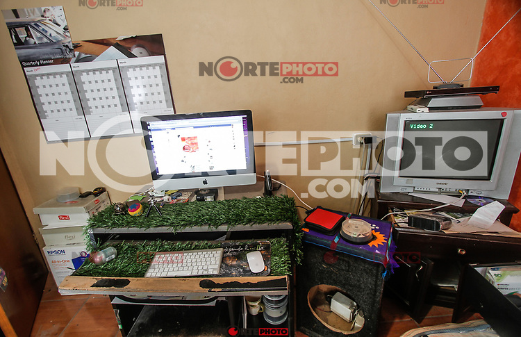 Oficinas de la agencia de fotografia norte Photo en sus inicios 2011