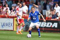 Jay Harris of Tranmere Rovers during Stevenage vs Tranmere Rovers, Sky Bet EFL League 2 Football at the Lamex Stadium on 4th August 2018