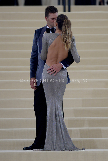 www.acepixs.com<br /> <br /> May 1 2017, New York City<br /> <br /> Tom Brady and Gisele Bundchen arriving at the 'Rei Kawakubo/Comme des Garcons: Art Of The In-Between' Costume Institute Gala at the Metropolitan Museum of Art on May 1, 2017 in New York City<br /> <br /> By Line: Kristin Callahan/ACE Pictures<br /> <br /> <br /> ACE Pictures Inc<br /> Tel: 6467670430<br /> Email: info@acepixs.com<br /> www.acepixs.com