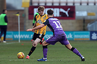 Brad Halliday of Cambridge Unitedand Luke Hannant of Port Vale during Cambridge United vs Port Vale, Sky Bet EFL League 2 Football at the Cambs Glass Stadium on 9th February 2019