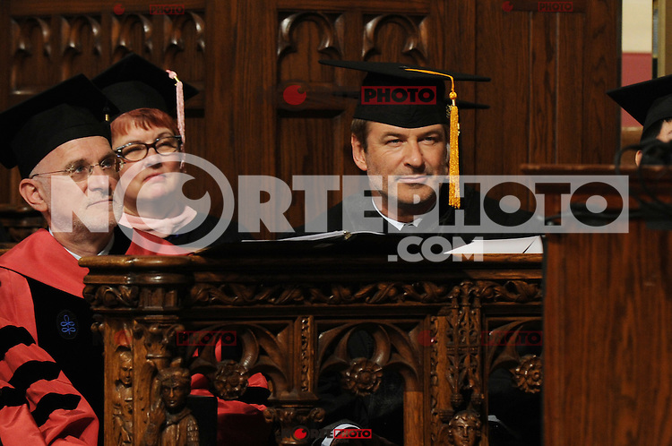 Actor Alec Baldwin receives an honorary Doctor of Musical Arts degree at the 2012 Commencement of the Manhattan School of Music at Riverside Church in New York City. May 11, 2012. © mpi01/MediaPunch Inc.