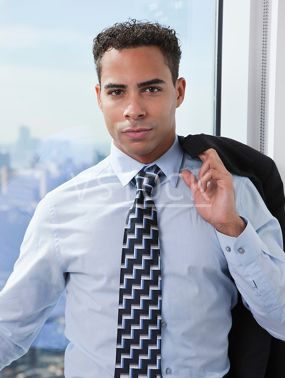 USA, New York State, New York City, portrait of young business man