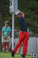 Hideki Matsuyama (JPN) watches his tee shot on 13 during 1st round of the World Golf Championships - Bridgestone Invitational, at the Firestone Country Club, Akron, Ohio. 8/2/2018.<br /> Picture: Golffile | Ken Murray<br /> <br /> <br /> All photo usage must carry mandatory copyright credit (&copy; Golffile | Ken Murray)