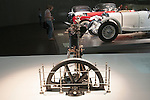 A model replica of Rudolf Diesel's original diesel engine at the Mercedes Benz museum in Stuttgart, Germany.
