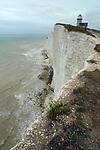 England ,East Sussex,Beachy Head,Belle Tout Lighthouse,coast,chalk cliffs.