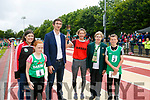 Sasha Brent Tarbert carries the torch to open the Community Games  at An Riocht Castleisland  on Saturday here with Sorcha Bennett, Grace O'Donnell, Padraig Mallen, Kerry Group, Margaret Cullotty and Cian Spillan