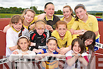 FRENCH CONNECTION: Students from Gael Scoil Aogain Castleisland and Bannalec in Brittany enjoying a Sports Day at the An Riocht Track in Castleisland on Thursday last..Front L/r. Marella Daoudal (Brittany), Eimear Culline (Cordal), Liza Roujer (Brittany)..Second row L/r. Rachel Daly (Currow), Amy Reidy (Cordal), Nora O'Donoghue (Cordal), Saoirse Teehan (Scartaglin). .Back L/r. Jayne Shanahan (Castleisland), Aine Walsh (Cordal), Aine O'Connor (Scartaglin) and Aoife Breen (Castleisland).   Copyright Kerry's Eye 2008