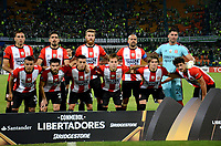 MEDELLIN  -  COLOMBIA: 02 - 05 - 2017: Los Jugadores de Estudiantes de la Plata, posan para una foto, durante partido de la fase de grupos, grupo 1 fecha 4, entre Atletico Nacional y Estudiantes de la Plata de Argentina, por la Copa Conmebol Libertadores Bridgestone 2017, en el Estadio Atanasio Girardot, de la ciudad de Medellin./ The players of Estudiantes de la Plata, pose for a photo, during a match for the group stage, group 1 of the date 4, between Atletico Nacional of Colombia and Estudiantes de la Plata of Argentina, for the Conmebol Libertadores Bridgestone Cup 2017, at the Atanasio Girardot, Stadium, in Medellin city. Photos: VizzorImage / Leon Monsalve / Cont.