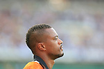 Patrice Evra in action during the Serie A football match Chievo Verona vs Juventus at Verona, on August 30, 2014.