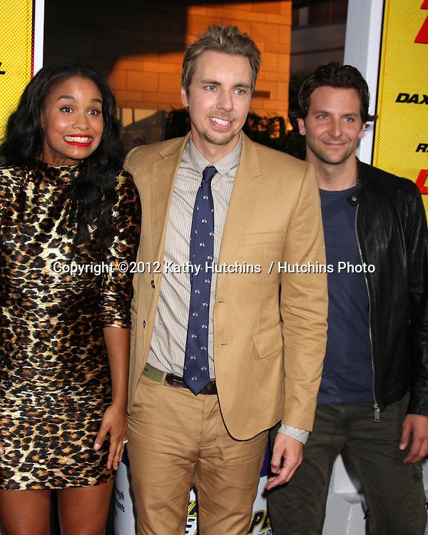 """Los Angeles - AUG 14:  Joy Bryant, Dax Shepard, Bradley Cooper arrives at the """"Hit & Run"""" Los Angeles Premiere at Regal Cinema on August 14, 2012 in Los Angeles, CA"""
