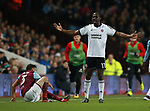 Clayton Donaldson of Sheffield Utd  argues his case during the Championship match at Villa Park Stadium, Birmingham. Picture date 23rd December 2017. Picture credit should read: Simon Bellis/Sportimage