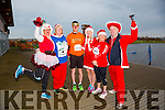 Enjoying the Santa 5km run in memory of Fiona Moore in aid of Heart Children Ireland at the Tralee Wetlands were l-r  Ashley O'Shea, Born To Run, Trish Horan, Ballymac, Catriona O'Dwyer, Colin Ahern, Martin Moore and Joan O'Keeffe