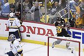 8th June 2017, Pittsburgh, PA, USA; Pittsburgh Penguins center Evgeni Malkin (71) celebrates his goal on Nashville Predators goalie Pekka Rinne (35) during the first period in Game Five of the 2017 NHL Stanley Cup Final between the Nashville Predators and the Pittsburgh Penguins on June 8, 2017, at PPG Paints Arena