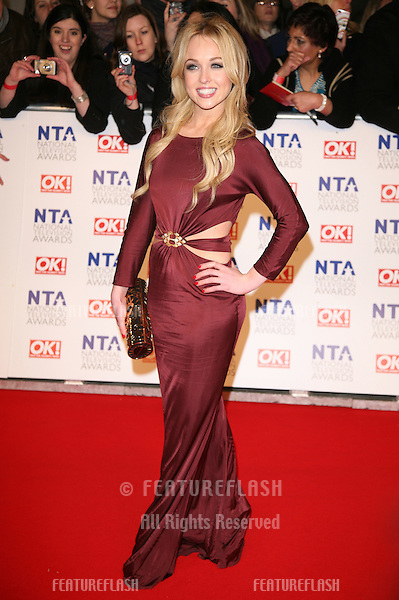 Jorgie Porter arriving for the National Television Awards, O2, London. 25/01/2012 Picture by: Alexandra Glen / Featureflash