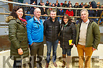The main speakers at The Beef Plan meeting in the Castleisland Mart on Monday night. <br /> L to r: Helen O'Sullivan (Bantry, Sec of Cork Group), Eoin Donnelly (Galway, Vice Chair of Galway Group), Dermot O'Brien (Firies, Chairman of the Kerry Beef Plan Committee), Theresa O'Mahoney (Bantry) and Eamon Corley (Navan, Chairman of the Beef Plan)