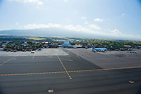 Aerial of Kona airport