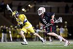 Orange, CA 02/28/09 -  Jordan Kirshner (Michigan #33) and Mike Clayton (Chapman #9)