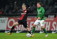 FUSSBALL   1. BUNDESLIGA   SAISON 2011/2012   19. SPIELTAG Werder Bremen - Bayer 04 Leverkusen                    28.01.2012 Andre Schuerrle (li, Bayer 04 Leverkusen) gegen Philipp Bargfrede (re, SV Werder Bremen)