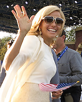 26 SEP 12  TAmy Mickelson enjoying the Opening Ceremony at The 39th Ryder Cup at The Medinah Country Club in Medinah, Illinois.