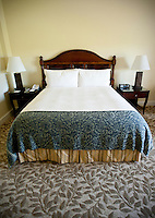 A suite at the Four Seasons Resort and Spa in Irving, Texas, Sunday, May 2, 2010. Four Seasons couldn't abstain from cost cutting in this downturn as it had in previous recessions because the worst hotel market in decades left the company last year with a 26% decline in revenue per available room in the U.S. Similarly, its occupancy fell to 57% from its usual perch above 70%...CREDIT: Matt Nager for The Wall Street Journal