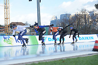 SPEED SKATING: COLLALBO: Arena Ritten, 10-01-2019, ISU European Speed Skating Championships, Marcel Bosker (NED), Jos de Vos (NED), Ireen Wüst (NED), Lotte van Beek (NED), Esmee Visser (NED), ©photo Martin de Jong