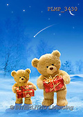 Marek, CHRISTMAS ANIMALS, WEIHNACHTEN TIERE, NAVIDAD ANIMALES, teddies, photos+++++,PLMP3430,#Xa# in snow,outsite,