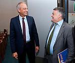 Bruessel - Belgien, 10. Mai 2012; .Parlamentarisches Fruehstueck 'Twinning Excellence' im Europaeischen Parlament mit u.a. Prof. Dr. Peter GRUSS, (li) Praesident der Max-Planck-Gesellschaft; MdEP Herbert REUL, (re)(CDU - EVP) Mitglied im ITRE, EP-Ausschuss Industrie, Forschung und Energie; Photo: © HorstWagner.eu/ MPG