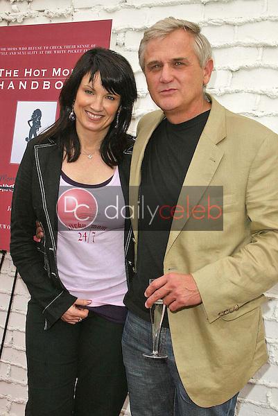Meredith Brooks and David Dunham<br />the Hot Mom's Club Book Launch Party. NanaÕs Garden, Los Angeles, CA. 04-29-06<br />Jason Kirk/DailyCeleb.com 818-249-4998