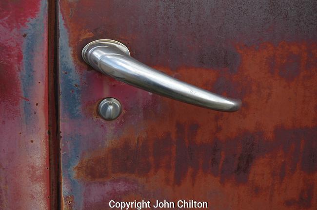 Door Handle of Old Truck