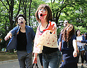"""May 14, 2016, Tokyo, Japan - Participants take part in a """"zombie walk"""" at Tokyo's Yoyogi park on Saturday, May 14, 2016. Zombie maniacs flocked to the park for an annual gathering, dressing in bloodstained costumes with grisl gore makeup.  (Photo by Yoshio Tsunoda/AFLO) LWX -ytd-"""