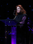 Theresa Rebeck on stage at the Dramatists Guild Foundation 2018 dgf: gala at the Manhattan Center Ballroom on November 12, 2018 in New York City.