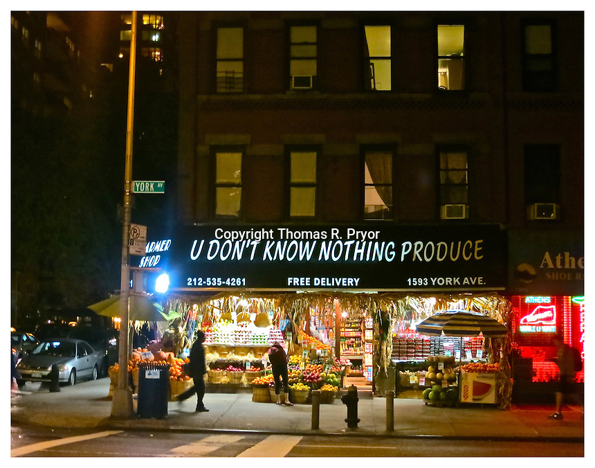 YORKVILLE, NY - OCTOBER 13: Photograph of Fruit Stand on 84th Street and York Ave in Yorkville, New York on October 13, 2012. Photo Credit: Thomas R. Pryor