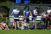 TJ Perenara hangs with the Norths bench during the Swindale Shield Wellington premier club rugby match between Northern United and Paremata-Plimmerton at Jerry Collins Stadium / Porirua Park in Wellington, New Zealand on Tuesday, 25 April 2017. Photo: Dave Lintott / lintottphoto.co.nz