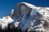 20080205 -- .Michael McCollum.Iconic Half Dome in winter in Yosemite Valley in California, seen yearly by millions of visitors to Yosemite National Park.