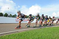INLINE-SKATEN: HAULERWIJK: Skeelervereniging 'De Draai', 16-06-2012, Nele Armee (#60), Brooke Lochland (#56), Elma de Vries (#81), Bianca Roosenboom (#19), ©foto Martin de Jong
