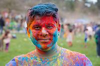 Holi Festival of Colors 2016, Bellevue, Washington, USA.