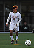 Hernan Cruz #6 of Glen Cove looks to pass upfield during the Nassau County Class A varsity boys soccer semifinals against Plainedge at Adelphi University on Friday, Oct. 28, 2016.