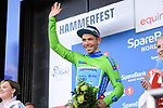 Sergei Chernetski Astana Pro Team retains the Green Jersey at the end of Stage 3 of the 2018 Artic Race of Norway, running 194km from Honningsvg to Hammerfest, Norway. 18th August 2018. <br /> <br /> Picture: ASO/Pauline Ballet | Cyclefile<br /> All photos usage must carry mandatory copyright credit (© Cyclefile | ASO/Pauline Ballet)