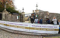 Windsor looks ready for it's second Royal wedding of the year. It's Princess Eugenie of York and Jack Brookbank&rsquo;s big day this coming Friday (October 12th) and with less than a week till the wedding, the town of Windsor seems to have plenty of bunting still in place, along with similar security measures as in May when Prince Harry married Meghan Markle. Sunday October 7th 2018<br /> CAP/ROS<br /> &copy;ROS/Capital Pictures
