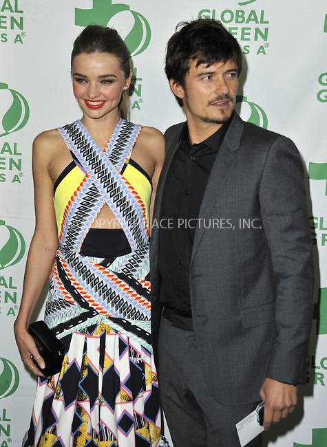 WWW.ACEPIXS.COM....February 20 2013, LA....Miranda Kerr and Orlando Bloom arriving at the Global Green USA's 10th Annual Pre-Oscar Party held at Avalon on February 20, 2013 in Hollywood, California.......By Line: Peter West/ACE Pictures......ACE Pictures, Inc...tel: 646 769 0430..Email: info@acepixs.com..www.acepixs.com