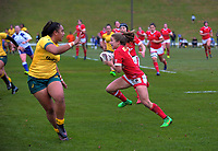 Frederique Rajotte in action during the 2017 International Women's Rugby Series rugby match between Canada and Australia Wallaroos at Smallbone Park in Rotorua, New Zealand on Saturday, 17 June 2017. Photo: Dave Lintott / lintottphoto.co.nz