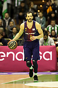 7th January 2018, San Pablo Sports Municipal Palace, Seville, Spain; Endesa League Basketball, Real Betis Energia Plus versus FC Barcelona Lassa; Ribas from Barcelona Lassa brings the ball foward
